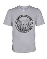 MADE IN COLOMBIA A LONG TIME AGO V-Neck T-Shirt thumbnail