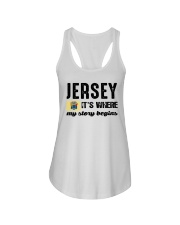 JERSEY IT'S WHERE MY STORY BEGINS Ladies Flowy Tank thumbnail