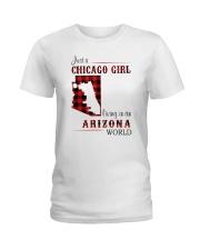 CHICAGO GIRL LIVING IN ARIZONA WORLD Ladies T-Shirt thumbnail