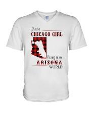 CHICAGO GIRL LIVING IN ARIZONA WORLD V-Neck T-Shirt thumbnail