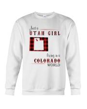 UTAH GIRL LIVING IN COLORADO WORLD Crewneck Sweatshirt thumbnail