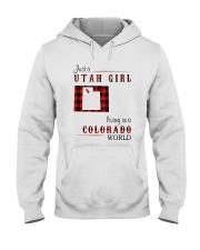 UTAH GIRL LIVING IN COLORADO WORLD Hooded Sweatshirt thumbnail