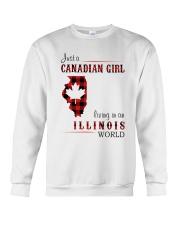 CANADIAN GIRL LIVING IN ILLINOIS WORLD Crewneck Sweatshirt thumbnail