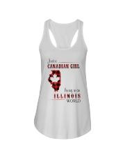 CANADIAN GIRL LIVING IN ILLINOIS WORLD Ladies Flowy Tank thumbnail