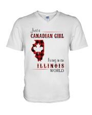 CANADIAN GIRL LIVING IN ILLINOIS WORLD V-Neck T-Shirt thumbnail