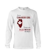 CANADIAN GIRL LIVING IN ILLINOIS WORLD Long Sleeve Tee thumbnail
