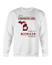 CANADIAN GIRL LIVING IN MICHIGAN WORLD Crewneck Sweatshirt thumbnail