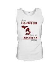 CANADIAN GIRL LIVING IN MICHIGAN WORLD Unisex Tank thumbnail