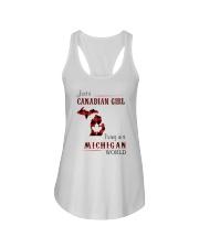 CANADIAN GIRL LIVING IN MICHIGAN WORLD Ladies Flowy Tank thumbnail