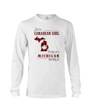 CANADIAN GIRL LIVING IN MICHIGAN WORLD Long Sleeve Tee thumbnail