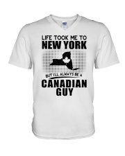CANADIAN GUY LIFE TOOK TO NEW YORK V-Neck T-Shirt thumbnail