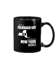 JUST A COLORADO GUY LIVING IN NEW YORK WORLD Mug thumbnail