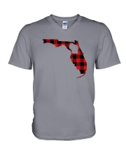 WISCONSIN IN FLORIDA WORLD V-Neck T-Shirt thumbnail