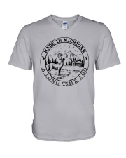 MADE IN MICHIGAN A LONG TIME AGO V-Neck T-Shirt thumbnail