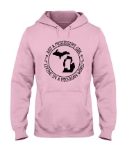 MISSISSIPPI GIRL LIVING IN MICHIGAN WORLD Hooded Sweatshirt front