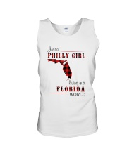 PHILLY GIRL LIVING IN FLORIDA WORLD Unisex Tank thumbnail