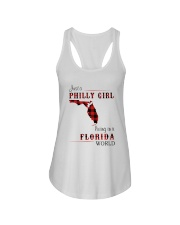 PHILLY GIRL LIVING IN FLORIDA WORLD Ladies Flowy Tank thumbnail