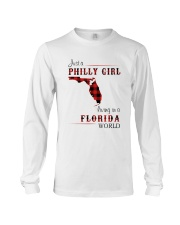 PHILLY GIRL LIVING IN FLORIDA WORLD Long Sleeve Tee thumbnail