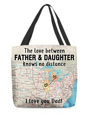MICHIGAN ILLINOIS FATHER DAUGHTER I LOVE DAD All-over Tote thumbnail