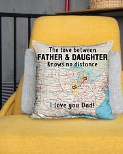 """MICHIGAN ILLINOIS FATHER DAUGHTER I LOVE DAD Indoor Pillow - 16"""" x 16"""" aos-decorative-pillow-lifestyle-front-01"""