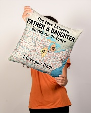 """MICHIGAN ILLINOIS FATHER DAUGHTER I LOVE DAD Indoor Pillow - 16"""" x 16"""" aos-decorative-pillow-lifestyle-front-02"""