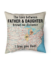 """MICHIGAN ILLINOIS FATHER DAUGHTER I LOVE DAD Indoor Pillow - 16"""" x 16"""" back"""