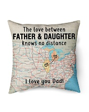 """MICHIGAN ILLINOIS FATHER DAUGHTER I LOVE DAD Indoor Pillow - 16"""" x 16"""" front"""