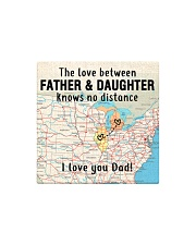MICHIGAN ILLINOIS FATHER DAUGHTER I LOVE DAD Square Magnet thumbnail