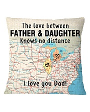 MICHIGAN ILLINOIS FATHER DAUGHTER I LOVE DAD Square Pillowcase thumbnail