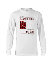 HAWAII GIRL LIVING IN UTAH WORLD Long Sleeve Tee thumbnail