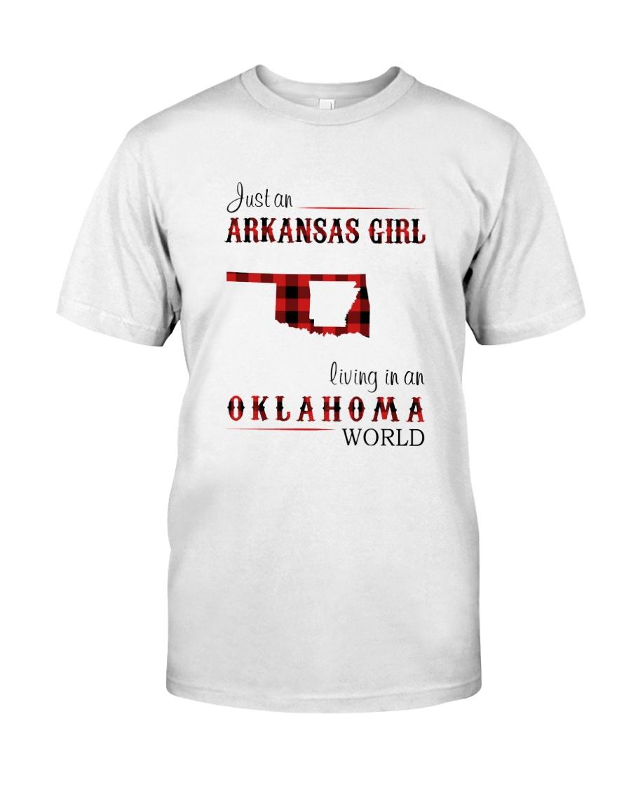 ARKANSAS GIRL LIVING IN OKLAHOMA  WORLD Classic T-Shirt