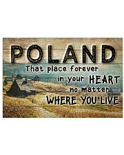 POLAND THAT PLACE FOREVER IN YOUR HEART Horizontal Poster tile