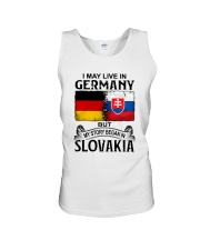 LIVE IN GERMANY BEGAN IN SLOVAKIA Unisex Tank thumbnail