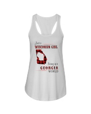 WISCONSIN GIRL LIVING IN GEORGIA WORLD Ladies Flowy Tank thumbnail