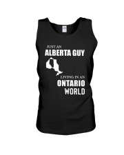 JUST AN ALBERTA GUY LIVING IN ONTARIO WORLD  Unisex Tank tile
