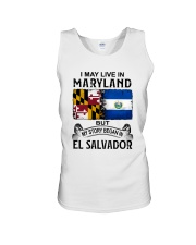 LIVE IN MARYLAND BEGAN IN EL SALVADOR Unisex Tank thumbnail