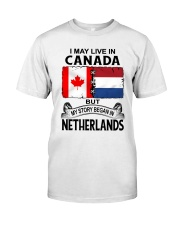 LIVE IN CANADA BEGAN IN NETHERLANDS ROOT WOMEN Classic T-Shirt tile