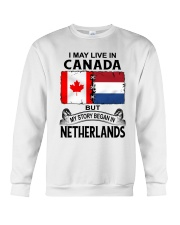 LIVE IN CANADA BEGAN IN NETHERLANDS ROOT WOMEN Crewneck Sweatshirt thumbnail