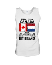 LIVE IN CANADA BEGAN IN NETHERLANDS ROOT WOMEN Unisex Tank thumbnail