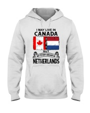 LIVE IN CANADA BEGAN IN NETHERLANDS ROOT WOMEN Hooded Sweatshirt thumbnail