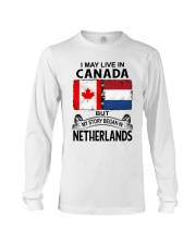 LIVE IN CANADA BEGAN IN NETHERLANDS ROOT WOMEN Long Sleeve Tee thumbnail