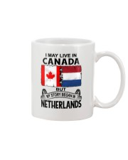 LIVE IN CANADA BEGAN IN NETHERLANDS ROOT WOMEN Mug thumbnail