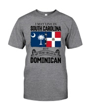 LIVE IN SC BEGAN IN DOMINICAN ROOT WOMEN Classic T-Shirt thumbnail