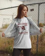 SOUTH CAROLINA GIRL LIVING IN MARYLAND WORLD Classic T-Shirt apparel-classic-tshirt-lifestyle-07