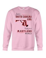 SOUTH CAROLINA GIRL LIVING IN MARYLAND WORLD Crewneck Sweatshirt thumbnail