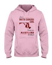 SOUTH CAROLINA GIRL LIVING IN MARYLAND WORLD Hooded Sweatshirt thumbnail