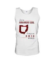 ARKANSAS GIRL LIVING IN OHIO WORLD Unisex Tank thumbnail