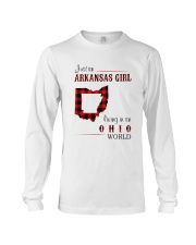 ARKANSAS GIRL LIVING IN OHIO WORLD Long Sleeve Tee thumbnail