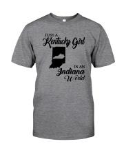 JUST A KENTUCKY GIRL IN AN INDIANA WORLD Classic T-Shirt thumbnail