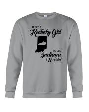 JUST A KENTUCKY GIRL IN AN INDIANA WORLD Crewneck Sweatshirt thumbnail